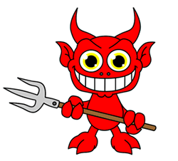 250x226 Cartoon Devil Step By Step Drawing Lesson
