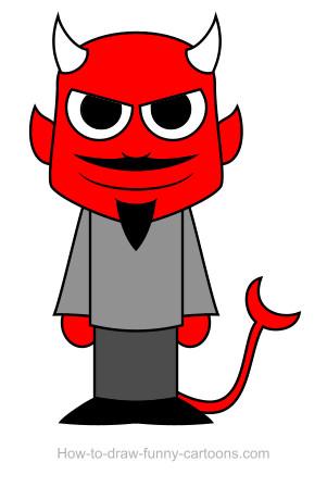 301x448 Devil Drawing (Sketching + Vector)