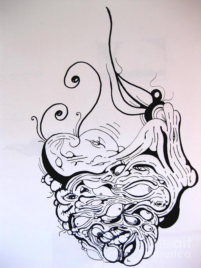 675x900 God And Devil Portrait Drawing By Ryan Mason