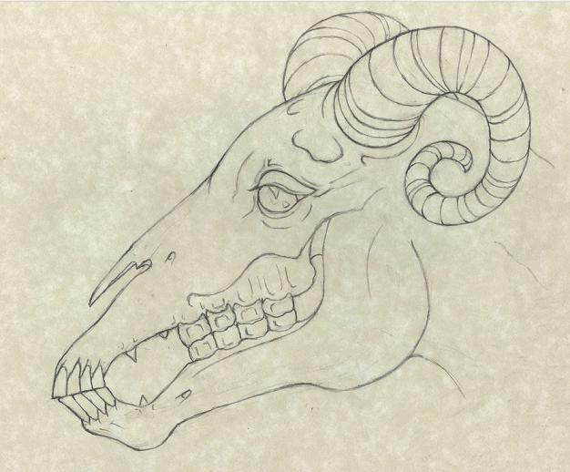 626x518 Jersey Devil Drawing By Jasonmckittrick