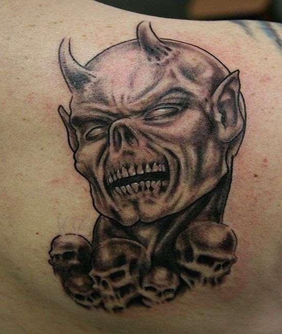 550x650 Wonderful Evil Tattoos