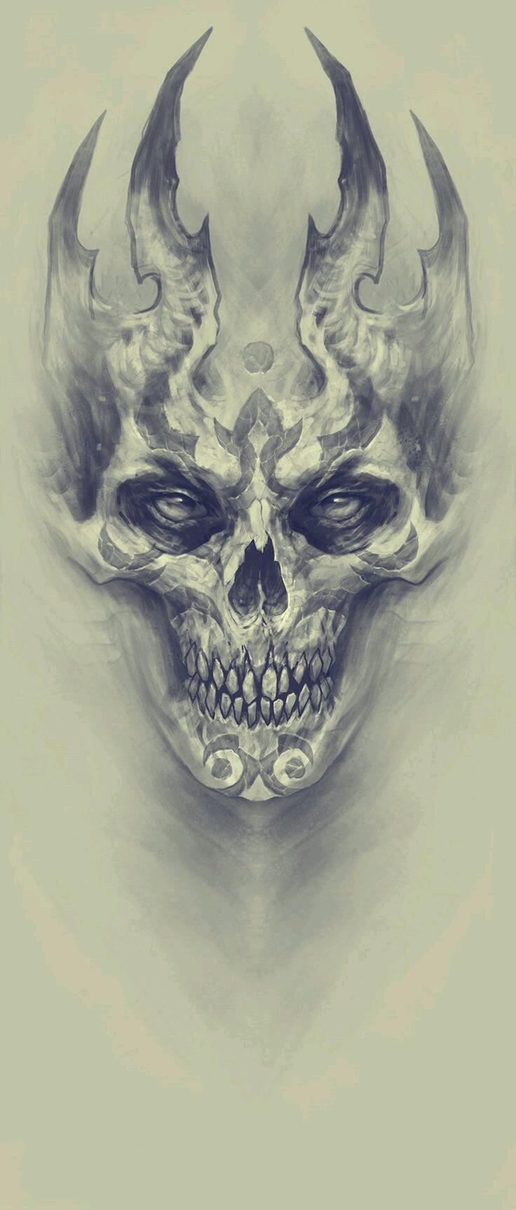 736x1727 Beautiful Skull