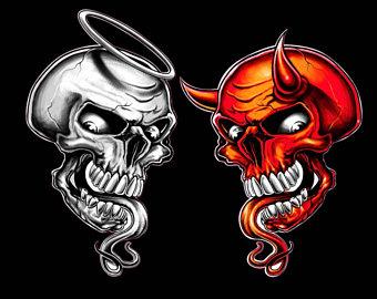 340x270 Devil Skull Sticker Etsy