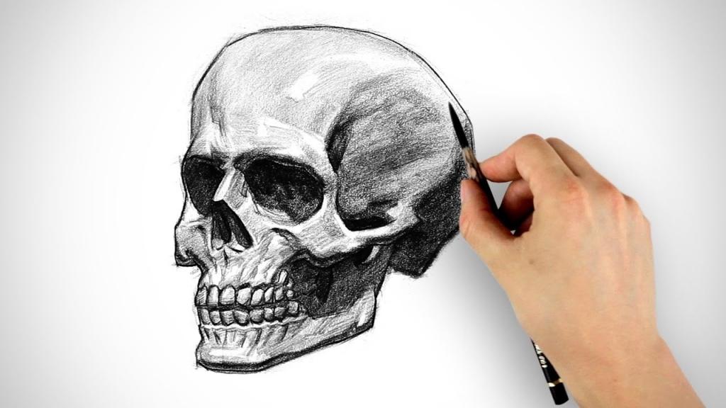 1024x576 How To Draw A Skull How To Draw A Devil Skull Devil Skull Tattoo