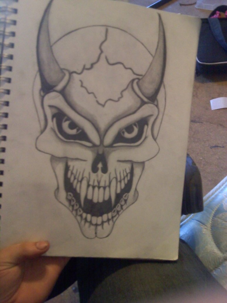 774x1032 Devil Skull By Pinkjack19