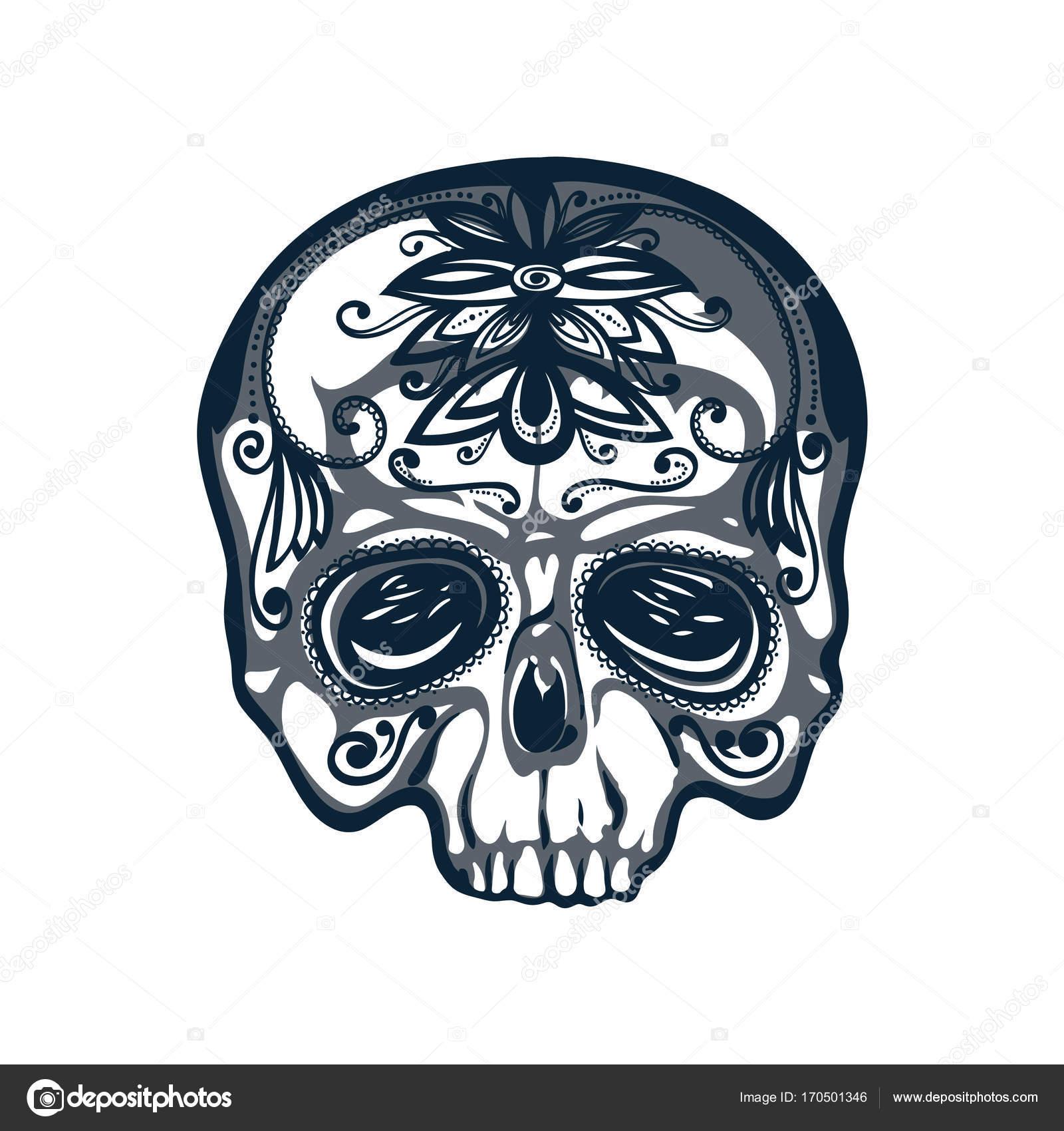 1600x1700 Dia De Los Muertos Card. Mexican Day Of The Dead. Skull Decorated