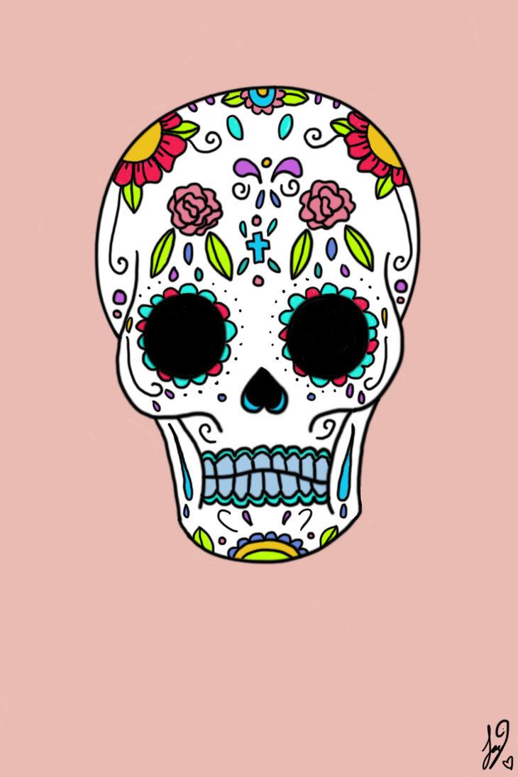 730x1095 Dia De Los Muertos Skull By Jaybird28