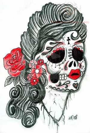 300x443 Dia De Los Muertos Skull