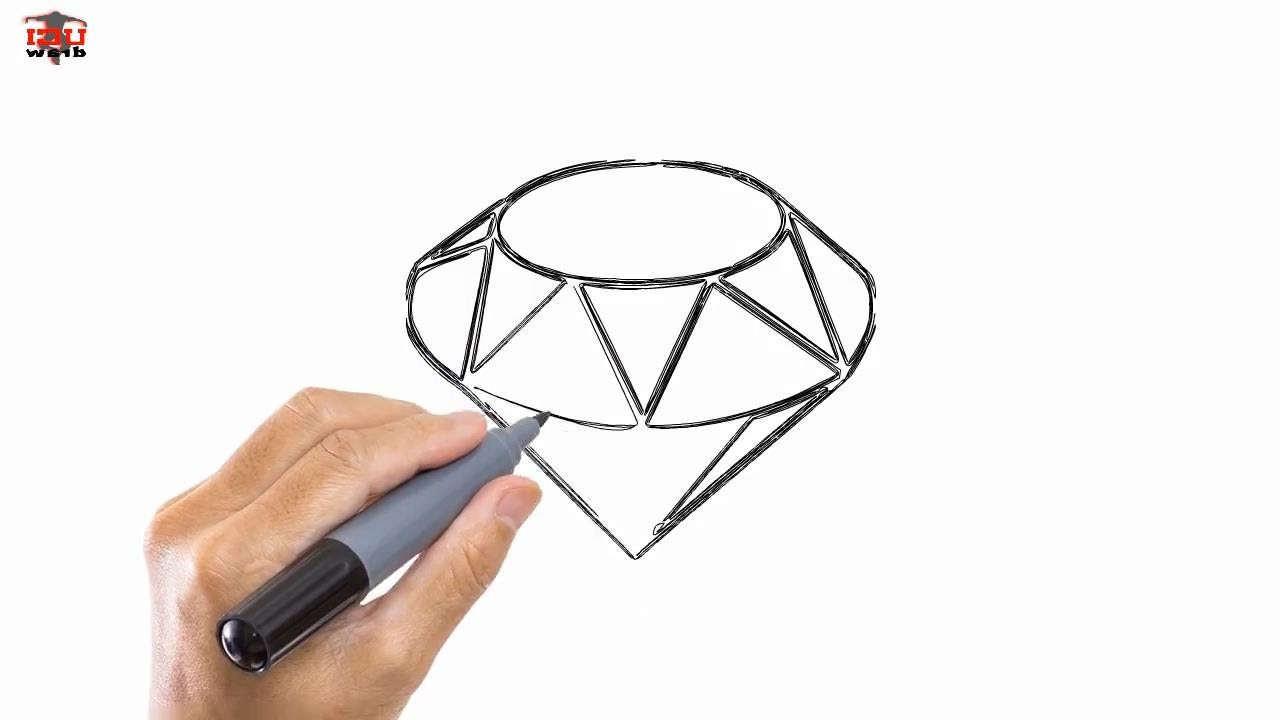 Diamond 3d Drawing At Getdrawings Com Free For Personal Use