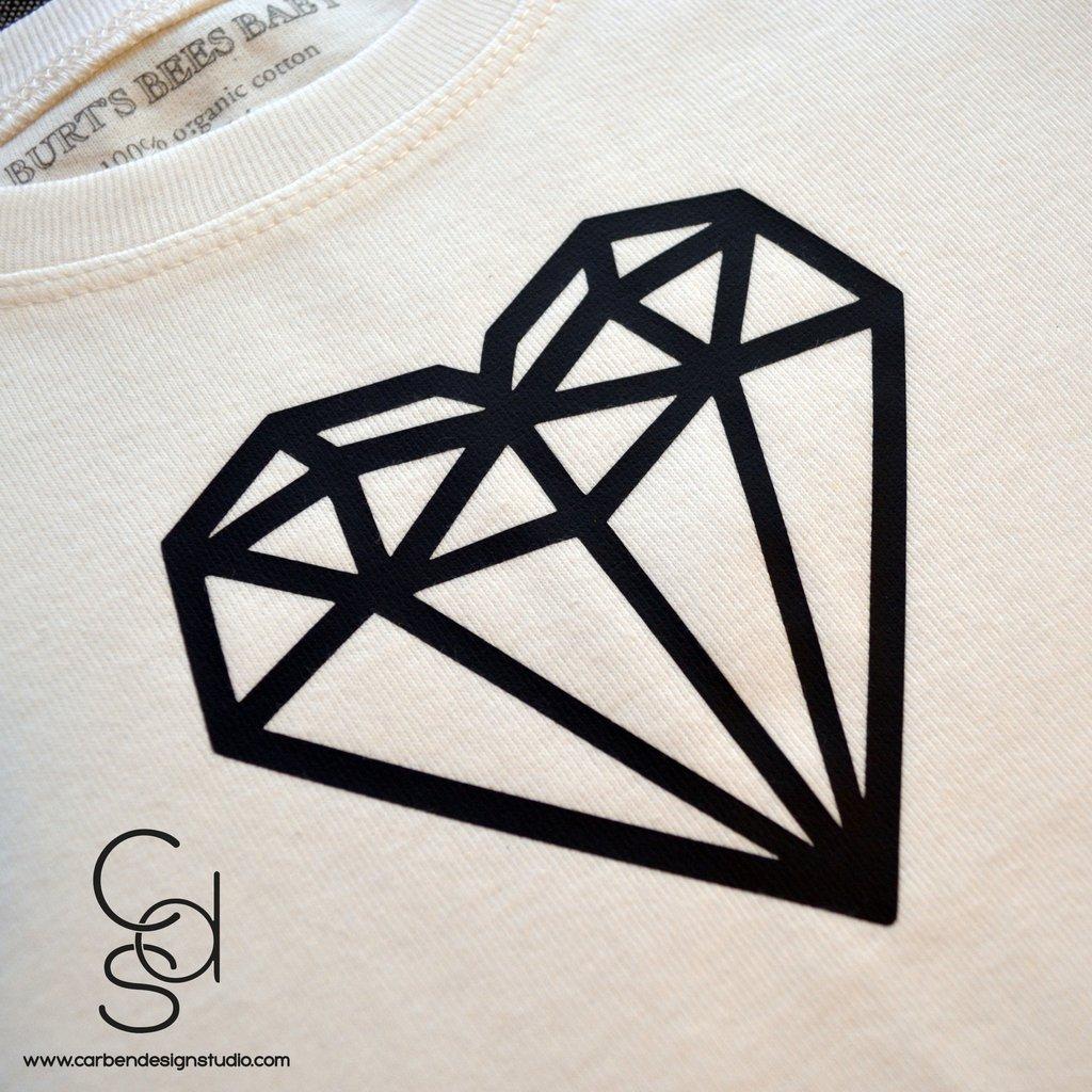 1024x1024 Diamond Heart Toddler Tee Carben Design Studio