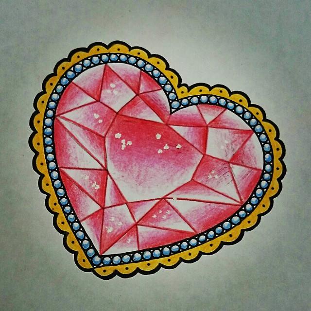 640x640 Diamond Heart Tattoo Tatuajes Body Art