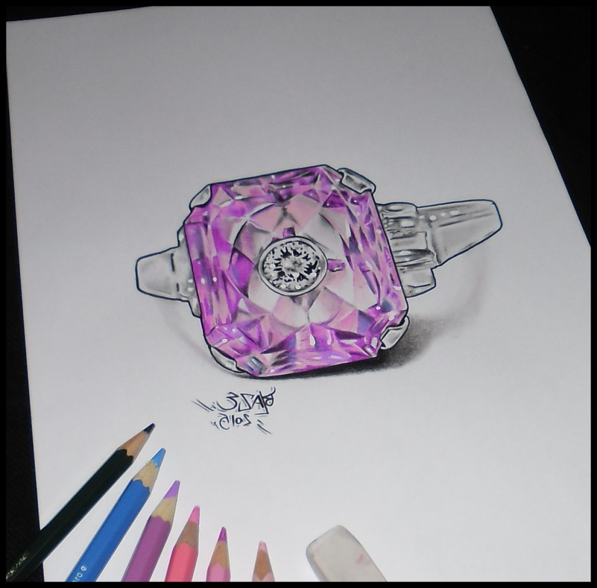 Diamond Pencil Drawing At Getdrawings Com Free For Personal Use