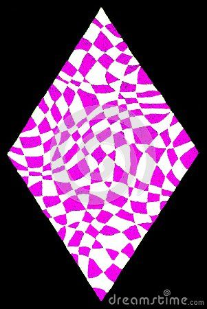 301x450 A Gel Pens Hand Drawing Of A Pink White Diamond Shape On A Black