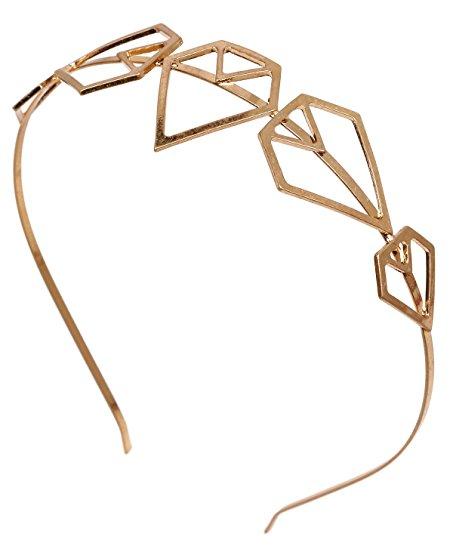 453x555 Funky Junque's Gold Geometric Diamond Triangle Shape Fashion Hair