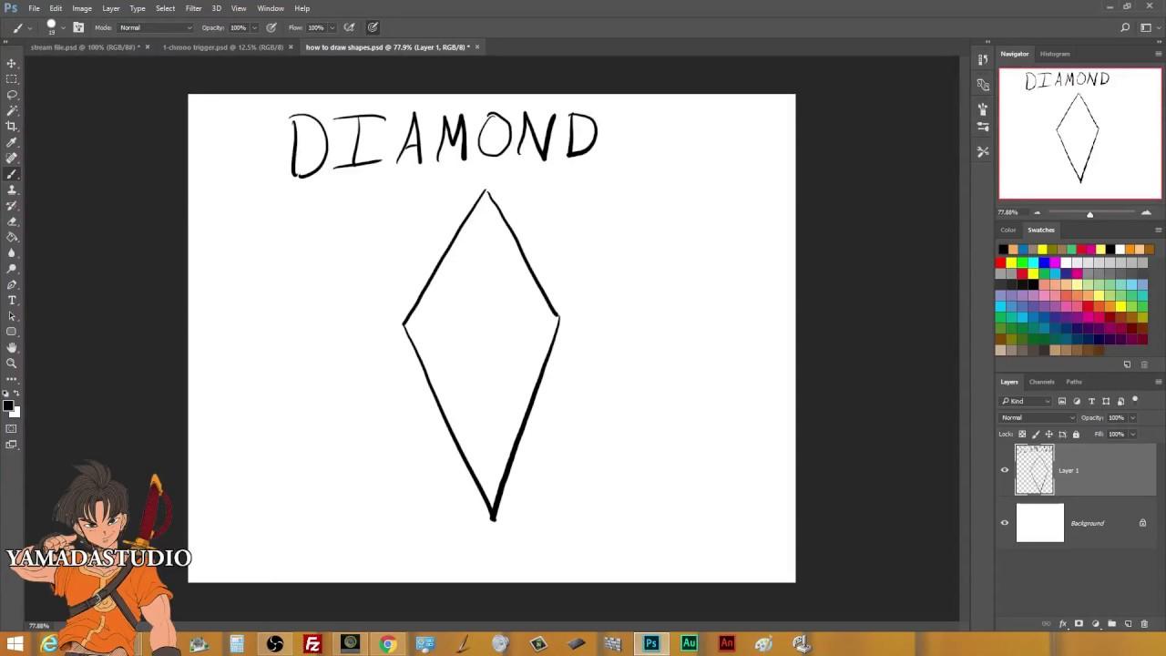 1280x720 How To Draw Diamond Shape Sketch Tutorial