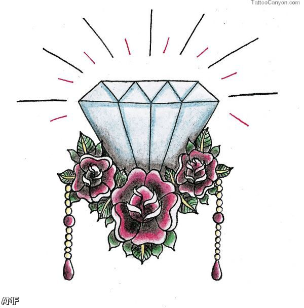Diamond Tattoo Drawing At Getdrawingscom Free For Personal Use