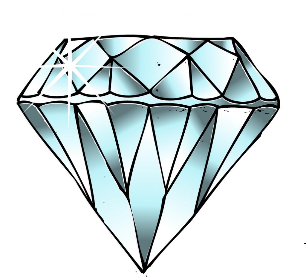 Simple Diamonds Drawing