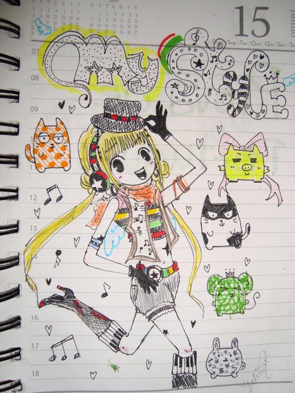600x800 Diary Draw 3 My Style By Yelink