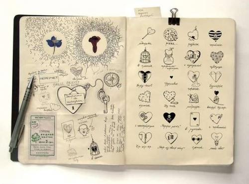 500x370 Anna Rusakova, Cute, Diary, Doodles, Drawings, Heart