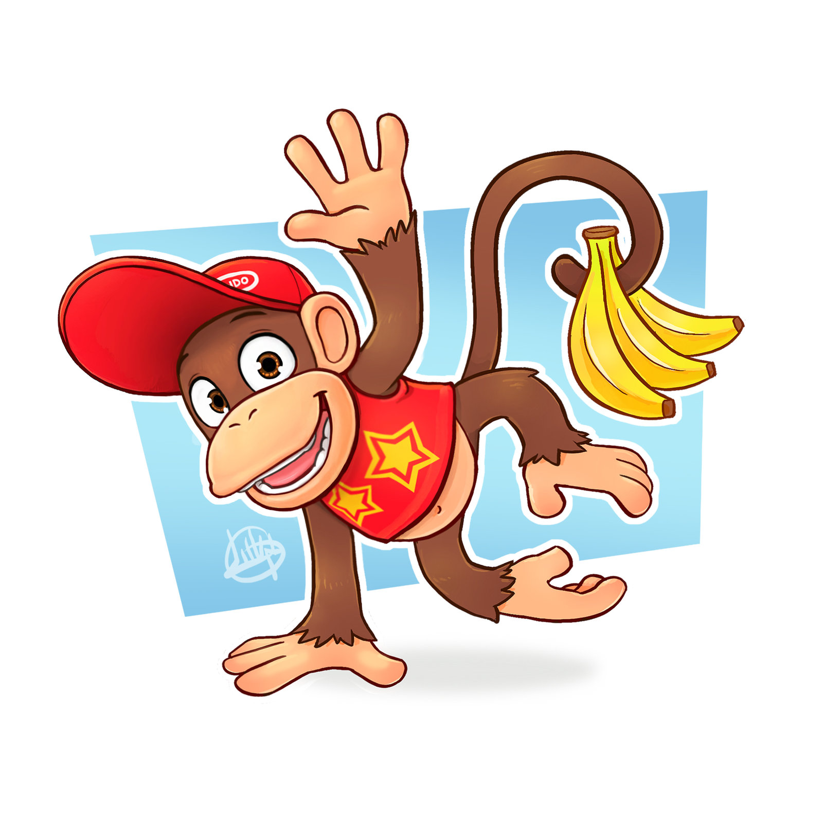 1600x1600 Day 15 Diddy Kong By Luigil