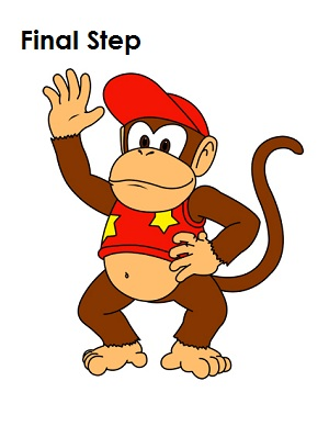 300x388 How To Draw Diddy Kong