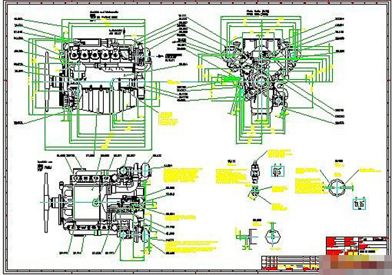 570x400 Assembly Drawing Of Diesel Engine Free Download, Dwg Files Heypik