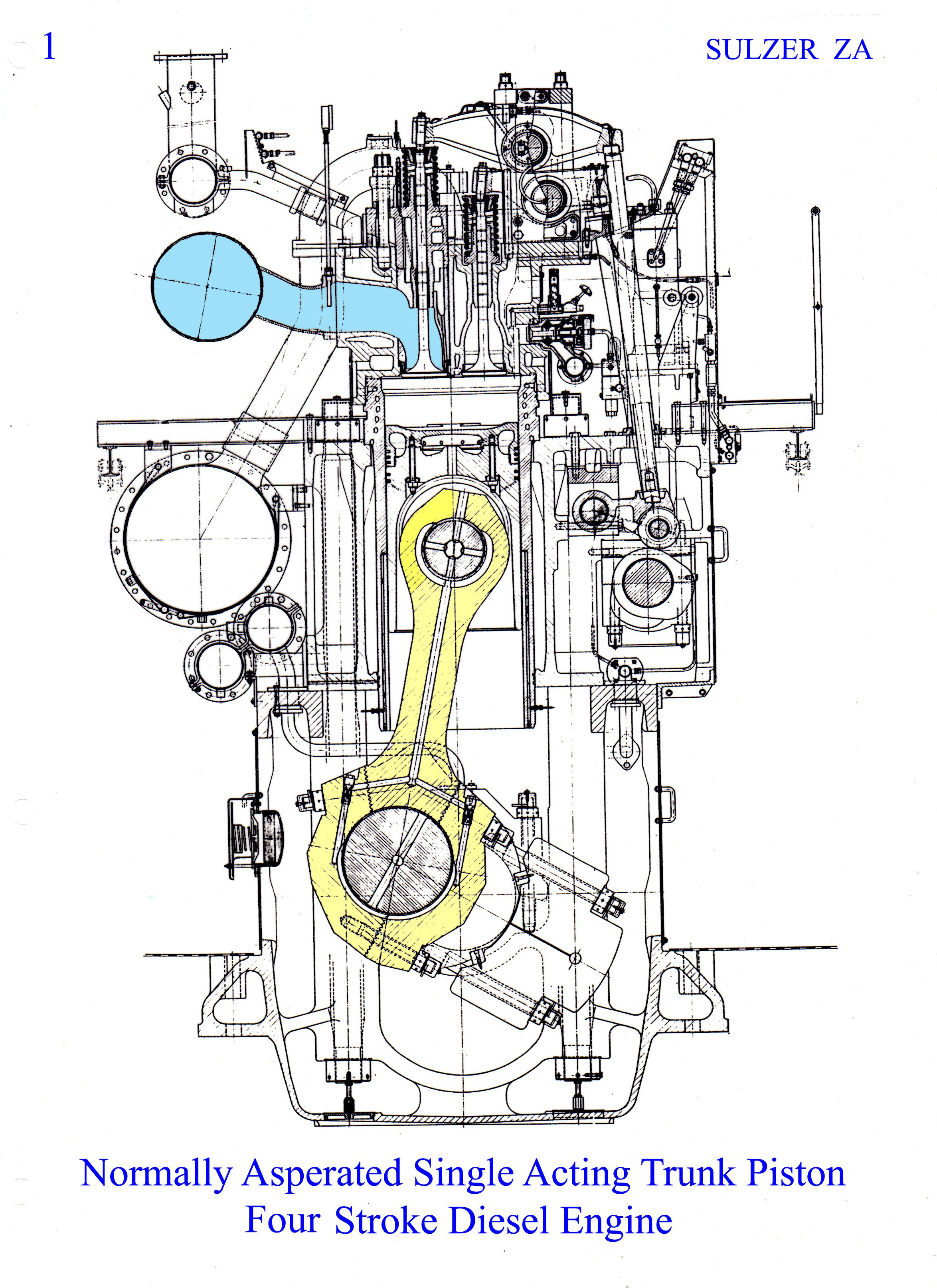 Diesel Engine Drawing At Free For Personal Use 4 Stroke Diagram 2348x3225 The