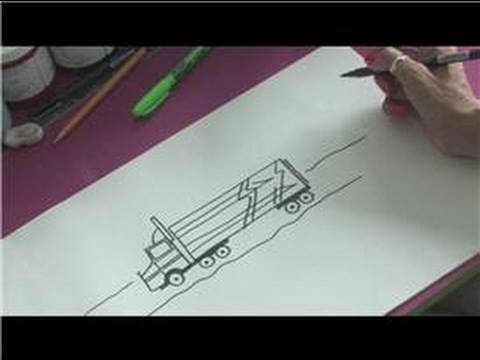 480x360 How To Draw Cars How To Draw Diesel Trucks