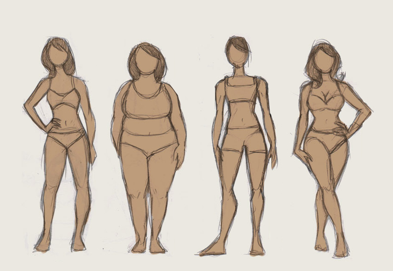 777x536 Comic Art Reference Female Body Types