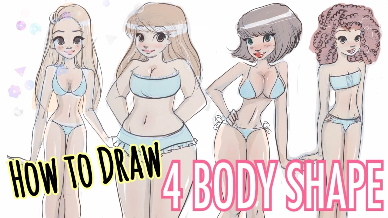 1280x720 To Draw 4 Different Body Shapes!!