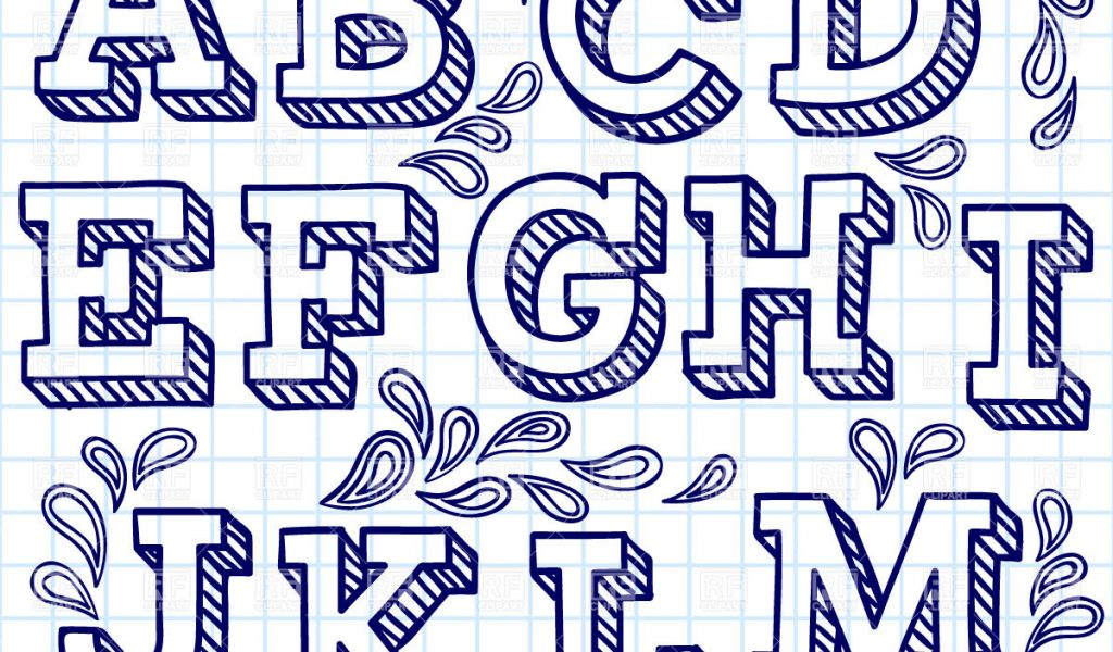 1024x600 Different Lettering Styles For Drawing