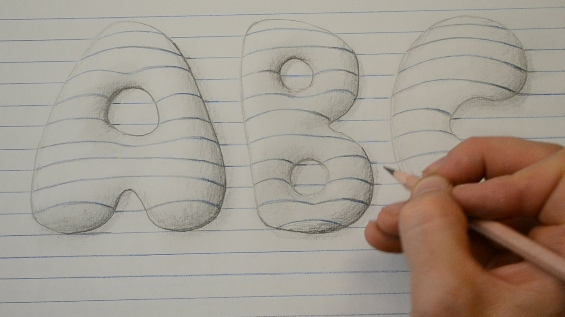 1920x1080 Lettering Styles For Drawing Draw 3d Style Bubble Letters