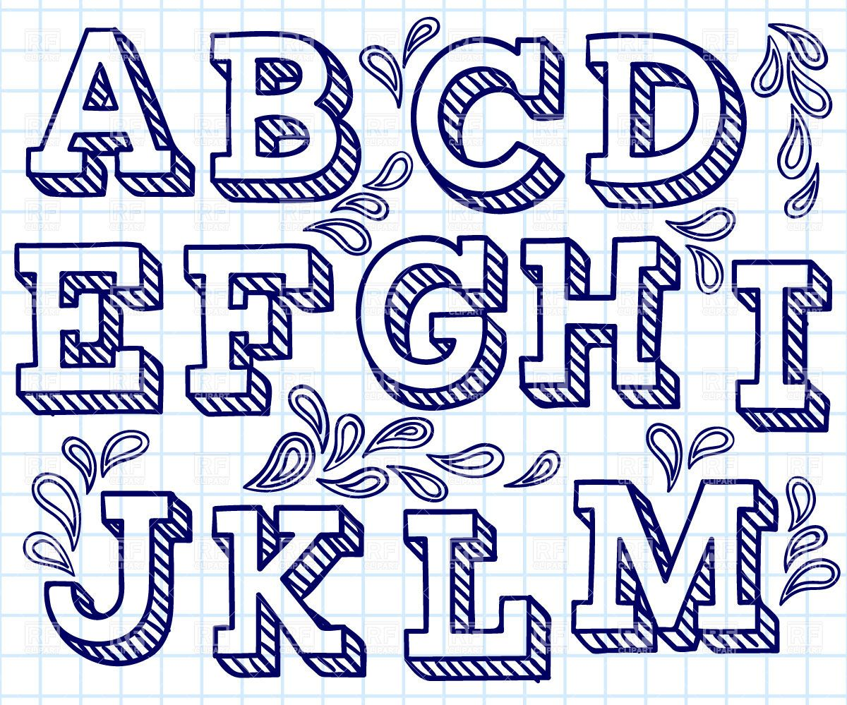 1200x999 Hand Lettering Font Free Drawn