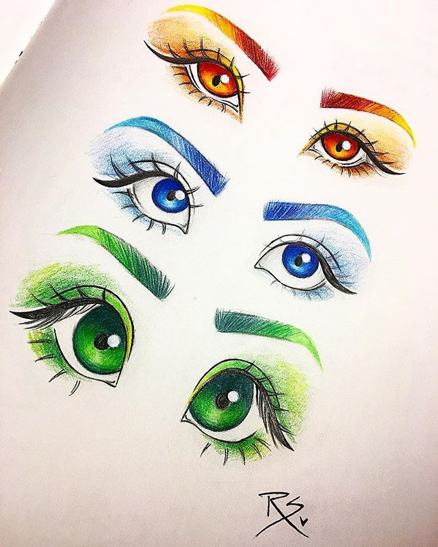 It's just an image of Effortless Different Types Of Eyes Drawing