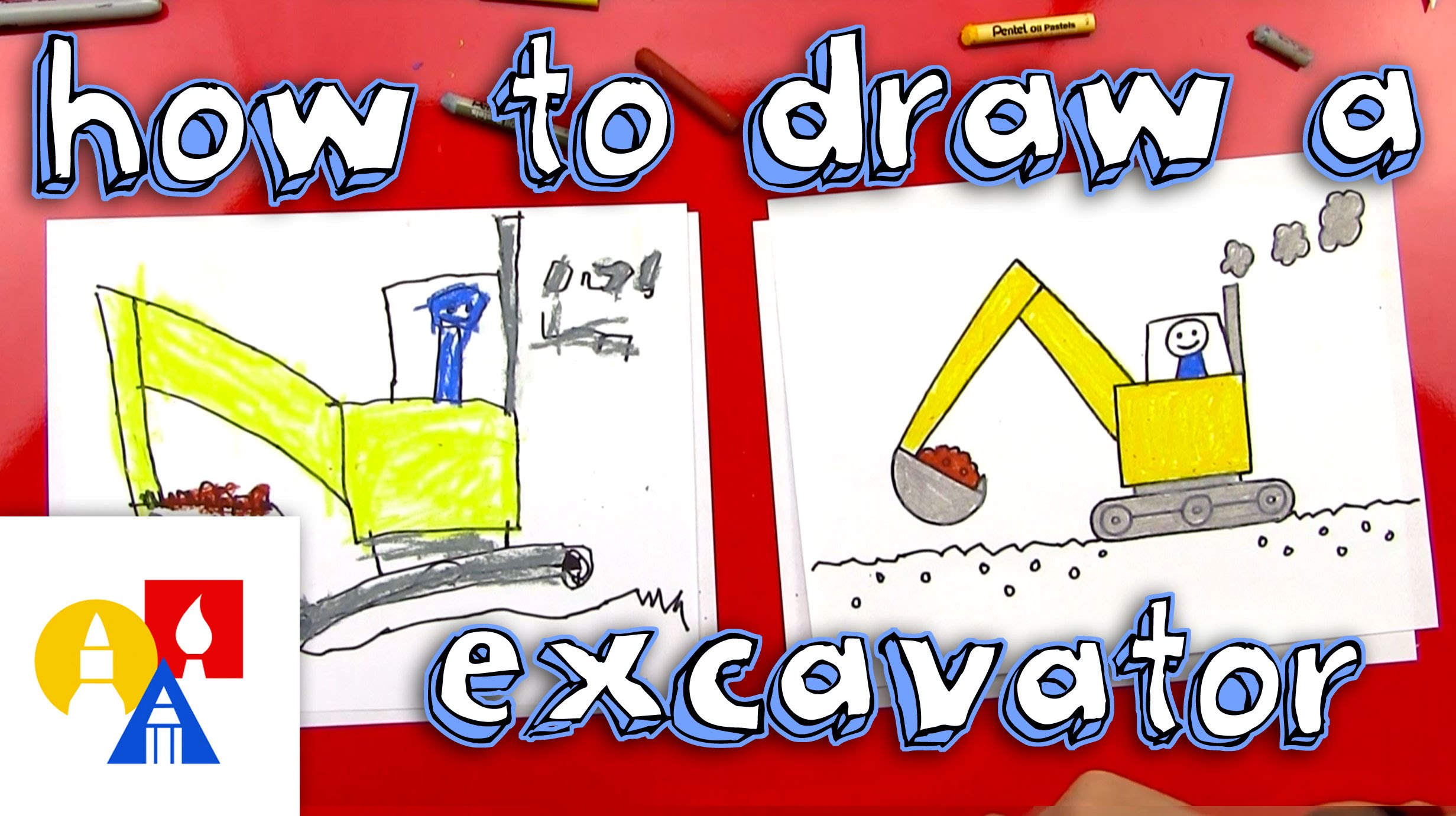2463x1381 How To Draw An Excavator (For Young Artists)