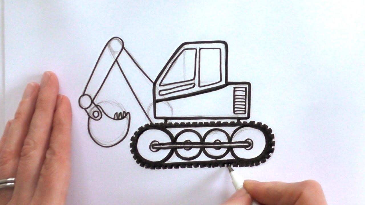 1280x720 How To Draw A Cartoon Digger