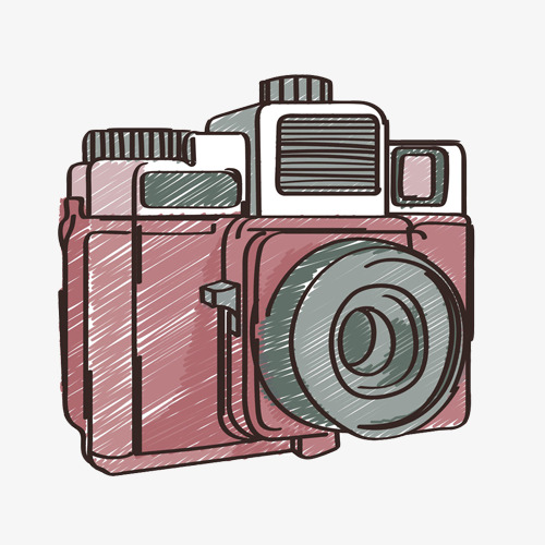 500x500 Camera Hand Drawing Material Picture, Purple, Camera, Digital