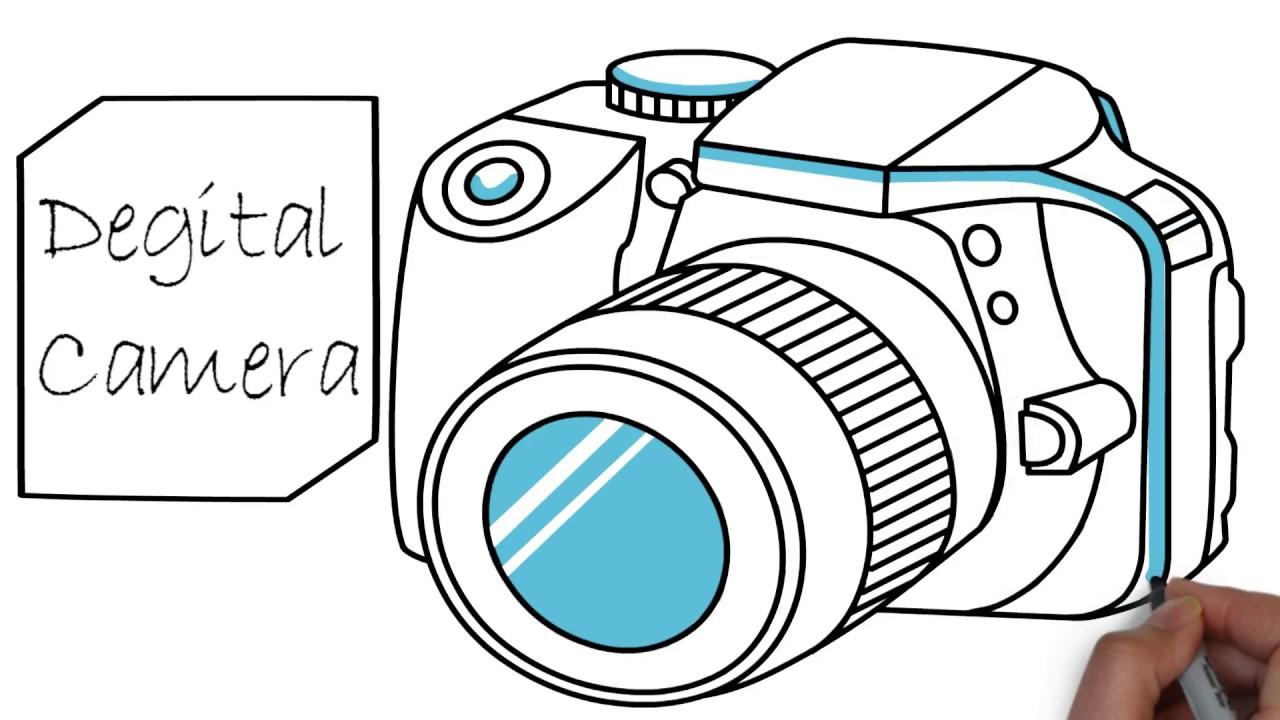 1280x720 Digital Camera Drawing