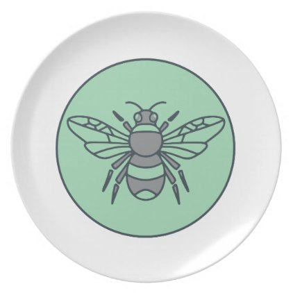 422x422 Bumble Bee Circle Mono Line Dinner Plate