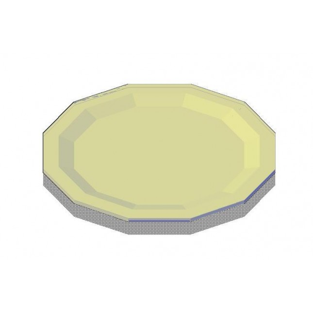 645x645 Dinner Plate 3d Cad Drawing