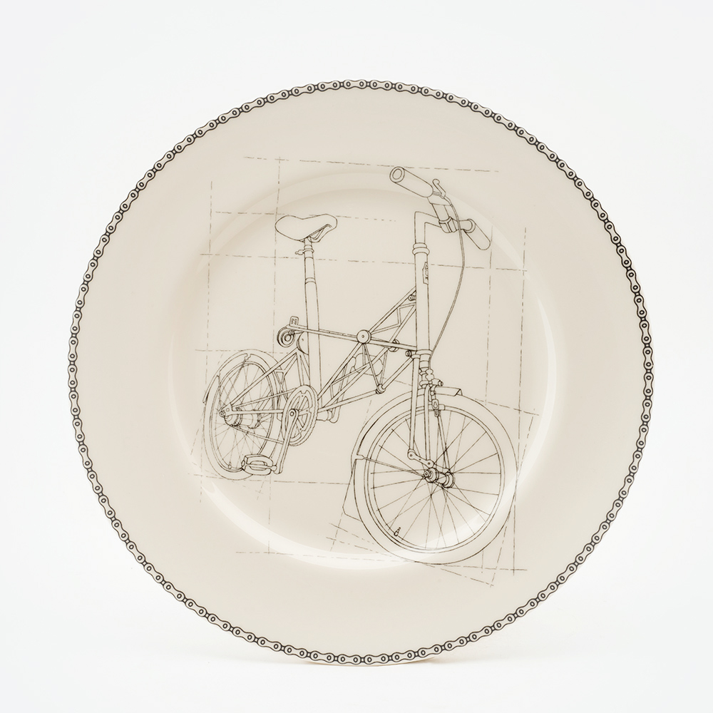 1000x1000 Suspension Bicycle Dinner Plate