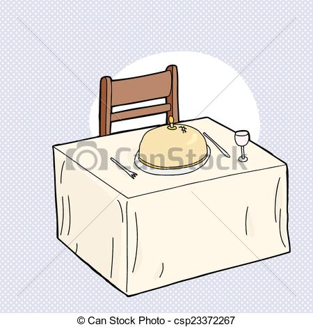 450x470 Dining Table And Chair. Cartoon Table With Fancy Dinner Clip