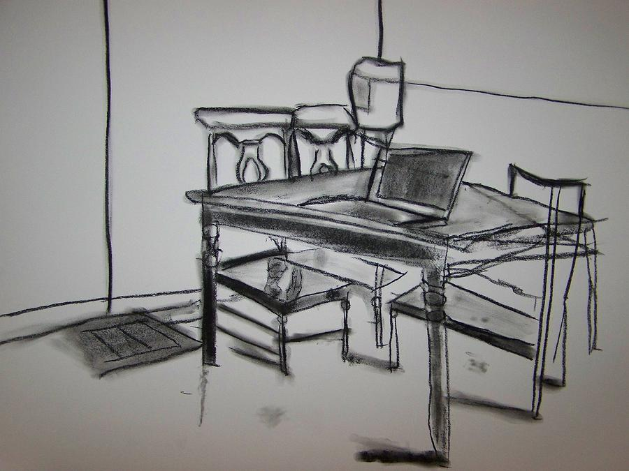 900x675 Dinner Table Drawing By Jimmy Guan
