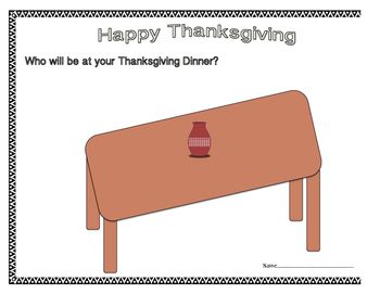 350x271 Thanksgiving Dinner Table Drawing By Mswhitegetsitright Tpt