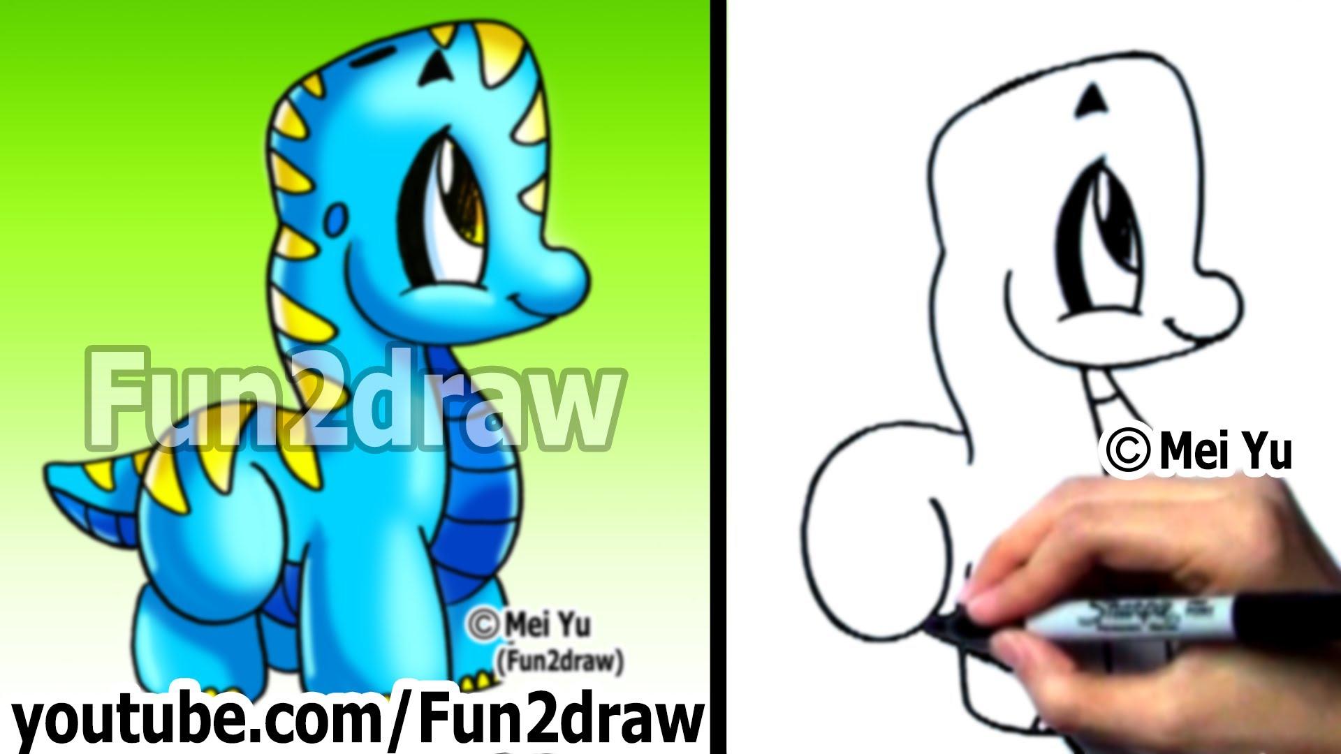 Dinosaur Cartoon Drawing at GetDrawings.com | Free for personal use ...