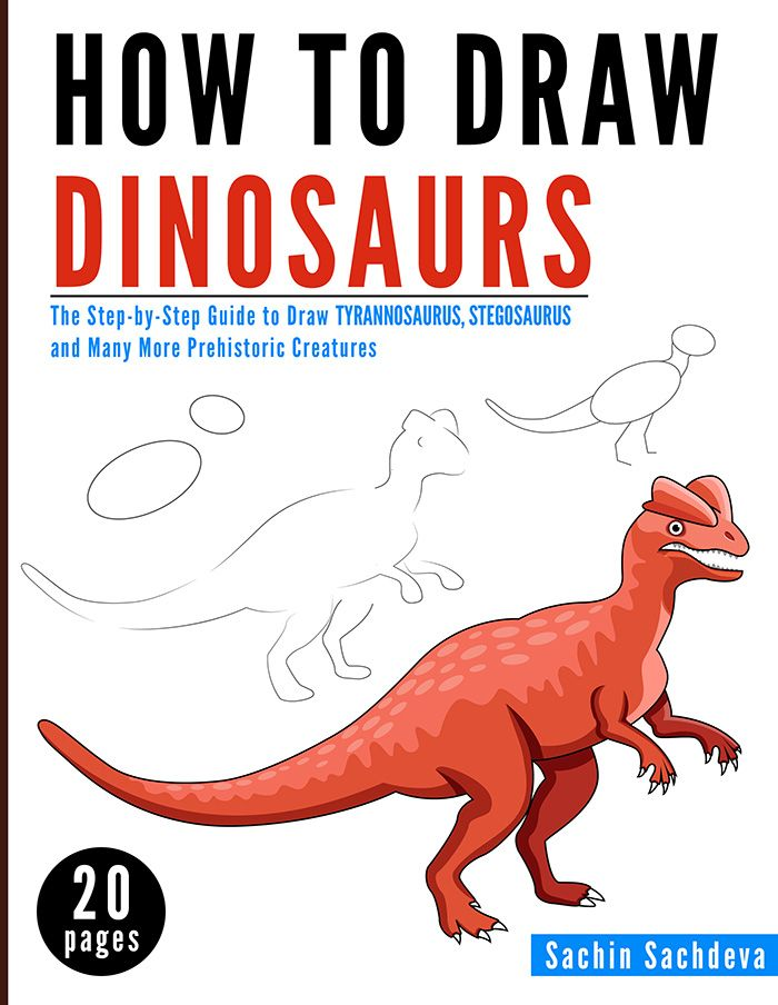 700x904 How To Draw Dinosaurs (Full Colored Book) Is A Step By Step Guide