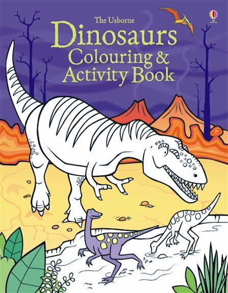 447x575 Dinosaurs Colouring And Activity Book An Exciting Book Full