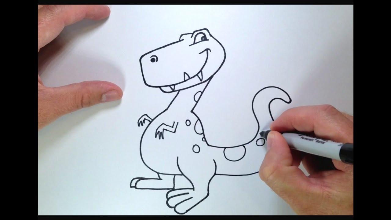 1280x720 How To Draw A Cartoon Dinosaur