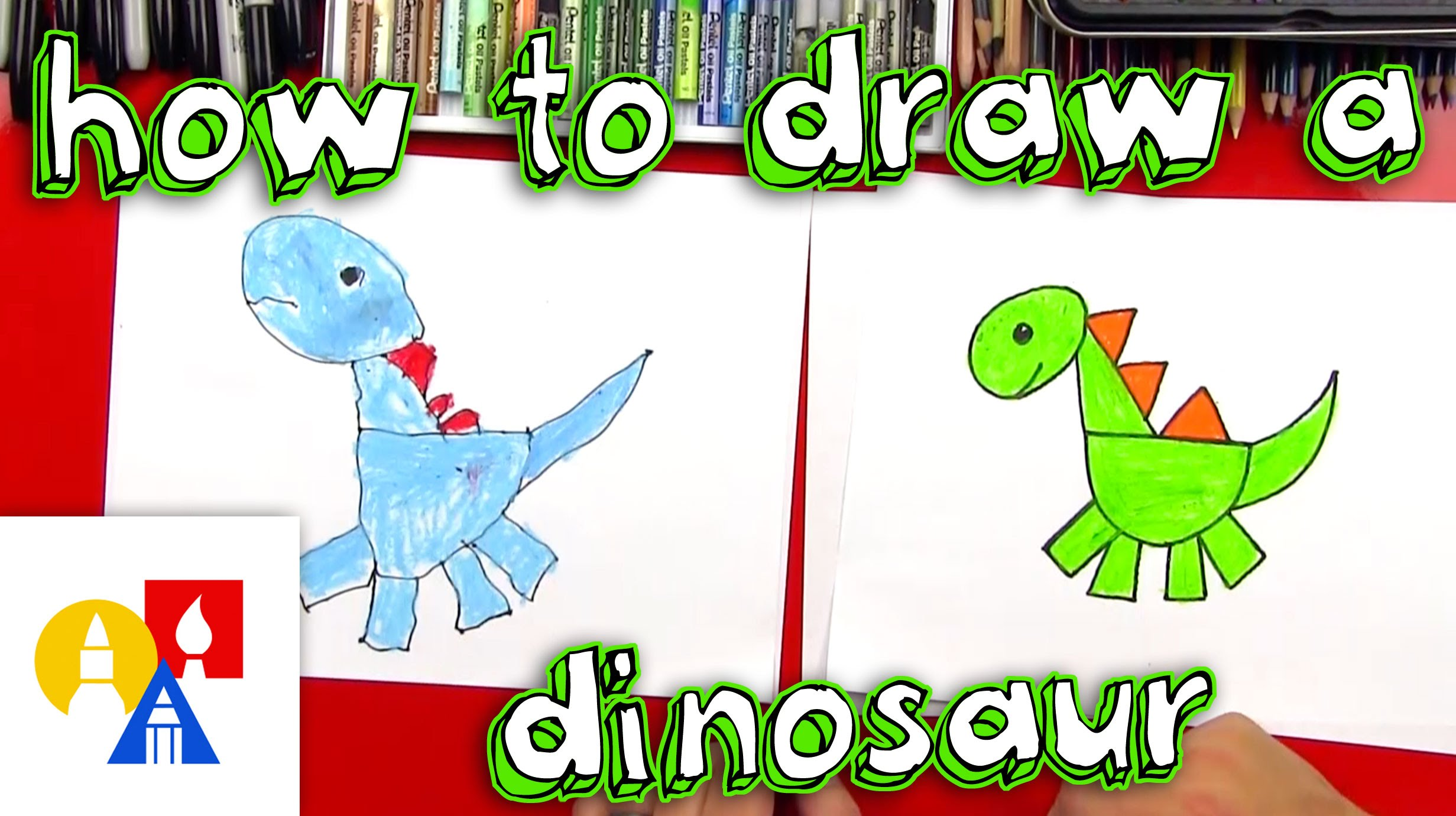 2463x1381 How To Draw A Dinosaur With Shapes