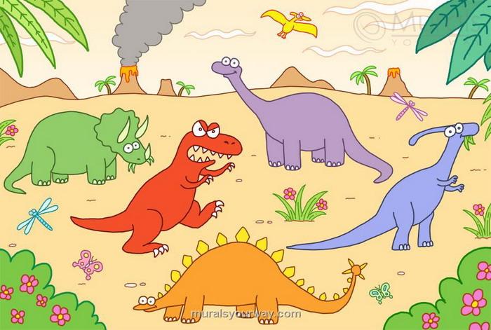 700x471 Kids Dinosaur Wallpaper Buy Childrens Dinosaur Murals For 3500